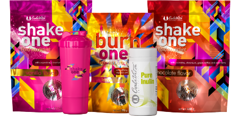 One Diet pack + Pure Inulin i Pink Shaker